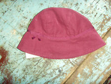 OLD STOCK Fall of 2008 burgundy hat with bow Gymboree girls 0-3 mo NEW NWT