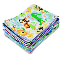 HULARA_Pack Of 10_100% Cotton Baby Wipes, Flannel Fabric Cloth Wipes for babies
