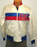 vtg TEAM USA Starter Satin JACKET MED 80s olympics lightweight M distress