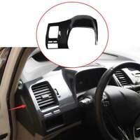 For Honda Civic 2006-2011 ABS Carbon Fiber Dashboard Frame Decor Cover Trim 1PCS