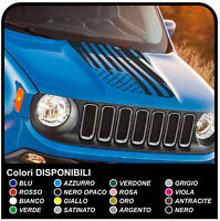 Adesivo jeep Renegade cofano Bandiera Americana effetto consumato US flag