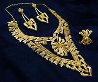 18K Goldplated Necklace Set Women Traditional Party Bollywood Jewelry BNG2419A