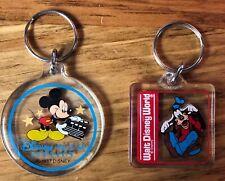 Walt Disney World Disney MGM Studios Mickey Mouse Goofy Acrylic Key Chains (Two)