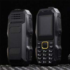 Shockproof Outdoor Rugged Dual SIM Bluetooth Unlocked Mobile Phone Flashlight FM