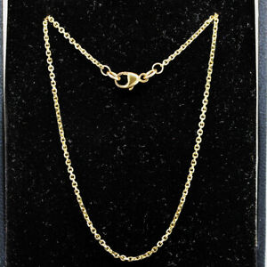 Strong 9ct Yellow Gold Fine Chain 18'' Long