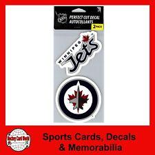 "(HCW) Winnipeg Jets  Perfect Cut 4""x4"" Decal Sticker Pack of 2 *FREE SHIP"