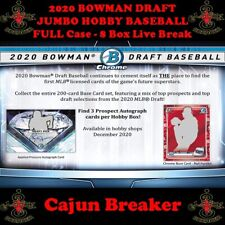 CINCINNATI REDS *FULL CASE 8 BOX LIVE BREAK* 2020 BOWMAN DRAFT JUMBO