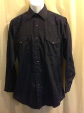 PANHANDLE SLIM Long Sleeve Lightweight NAVY Men's Shirt Size 15 1/2 - 33