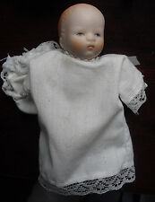 """Vintage 1980s Bisque Head Arms Legs Baby Boy Doll 4 1/2"""" Tall"""