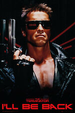 TERMINATOR - I'LL BE BACK - MOVIE POSTER - 24 x 36 SCHWARZENEGGER CAMERON 34047