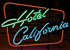 """New Hotel California Eagle Beer Bar Real Glass Neon Sign 17""""x14"""" Fast Ship"""