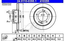ATE Juego de 2 discos freno Antes 290mm para SUZUKI JIMNY 24.0110-0355.1