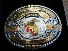 Gist Silversmith Sunshine Stampede 2014 ALL AROUND  Champion  Rodeo belt buckle