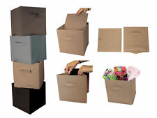 Foldable Storage Cube Pack of 4 Box Space Saver Organiser Home Tidy Bedroom