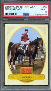 2012 Panini Golden Age #38 EDDIE ARCARO Horse CITATION Jockey PSA 9 MINT