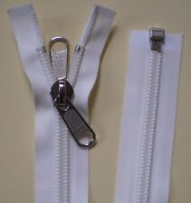 Reißverschluss für Rucksäcke Zelte dunkelgrau 135cm lang 5mm Spirale 2 Schieber