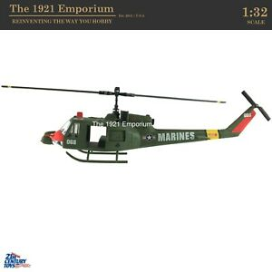 1:32 Diecast Metal 21st Century Toys Vietnam War US Marine Corps Huey Helicopter
