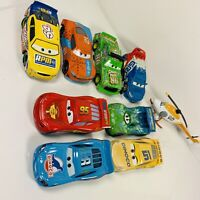Disney Pixar Cars Lot Of 9 Race Racing Diecast Metal With Ron Hover CRSN Mattel
