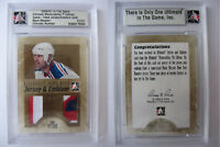 2006-07 ITG Ultimate Mark Messier 1/1 jersey emblem GOLD 1 of 1 rangers