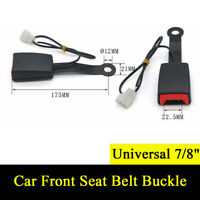 """1Pcs 7/8"""" Camlock Universal Auto Car Front Seat Belt Buckle with Warning Cable"""