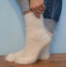 Socks HANDMADE Russian 100% goat down Cashmere Mohair angora Organic Warm