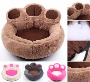Dog Bed Dog Basket Dog Sofa Paws Round Animal Bed Cat Bed Plush Basket