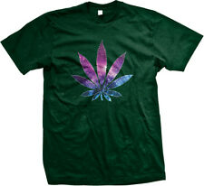 Pot Leaf Universe Stars Weed 420 Marijuana Drugs High Mens T-shirt