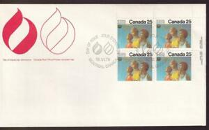 Canada FDC 1976 Montreal Oympics 25¢ Medal Ceremony, UR PB sc#683