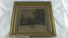 Ancienne gravure MOUCHERON Frederik de. old engraving waterfall dutch school