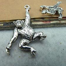 10pc Charms Pendant Orangutan Gorilla Animal Pendants Jewellery Making S531T
