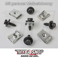 10x Metal Hexagonal Screw + Clip Bracket Audi VW Skoda Seat Peugeot NEW