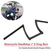 """Motorcycle Handlebar 1"""" Z Drag Bars Black For Yamaha Honda Suzuki Chopper Bobber"""