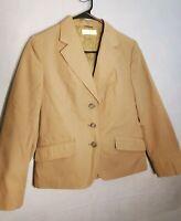 Vintage BROOKS BROTHERS Women's 10P Beige Blazer / Sport Jacket 3 Button Coat