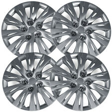4pc Hub Caps Fits 12-14 Toyota Camry 16 Inch Wheel Cover Rim Silver Skin