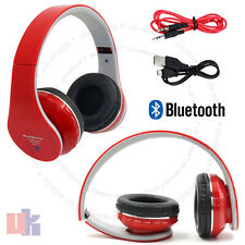 New Foldable Bluetooth Headset Stereo Super Bass Wireless Red Headphone Wireless