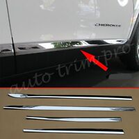 Chrome Door Side Body Molding Protect Cover For Jeep Cherokee KL 2014-2019 Trim