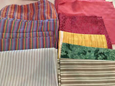 Vintage Fabric 9 Pieces Cottons Madras Upholstery Shirting Large Lot 1960's