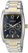 Bulova Gold Silver Crystal Man Bracelet Watch Reloj Hombre Pulsera Caravelle Arm