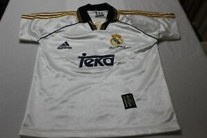 T-Shirt of The Real Madrid Adidas Size 14 Years Advertising Teka Scarce Shirt