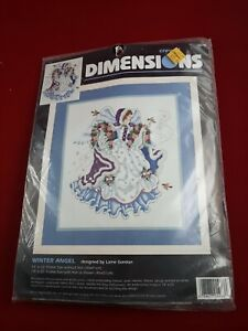 """Vintage Winter Angel Crewel Embroidery New Kit Dimensions - 14"""" x 16"""" - # 1476"""