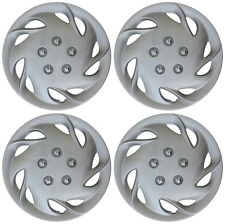"4pc Hub Cap ABS Silver 15"" Inch Wheel Cover Caps Fits OEM Steel Rims Universal"