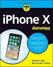 IPHONE X For Dummies (For (Computer/Tech)) Von Levitus, Bob, Baig, Edward