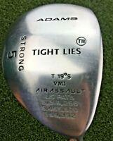 """Adams Golf Tight Lies Strong 5 Wood 19* / RH ~41.25"""" / Regular Steel / gw2770"""