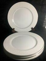 Mikasa Stratford Nita White Designer Collection Set of 4 Dinner  Plates L9007