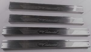 NEW 1961-63 Lincoln Sedan Convertible Door Sill Scuff Plates Repros in Stainless