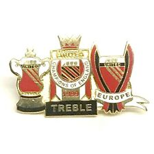 Manchester Treble United Treble Winners Pin Badge Football Gifts
