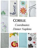 "CORELLE Coordinates 20"" Square DINNER NAPKIN 100% Cotton NEW *PICK Your PATTERN"