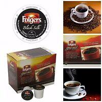 Folgers Black Silk K Cups Keurig Brewer K Cup Coffee Pods Dark Roast Beverages