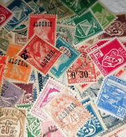Lot Algerie avant independance a trier environ 500 timbres nombreux neufs multip