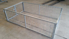 Galvanised Trailer Cage, suit 8x5 900mm, Heavy Duty Galvanised Cage. CAGE ONLY
